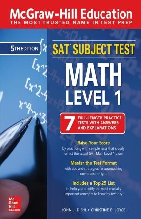 کتاب McGraw-Hill Education SAT Subject Test Math Level 1 - ویرایش پنجم (2019)