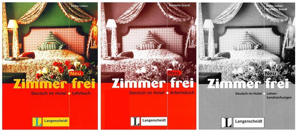 کتاب آموزش زبان آلمانی Zimmer frei به همراه کتاب کار و کتاب معلم و فایل های صوتی کتاب ها