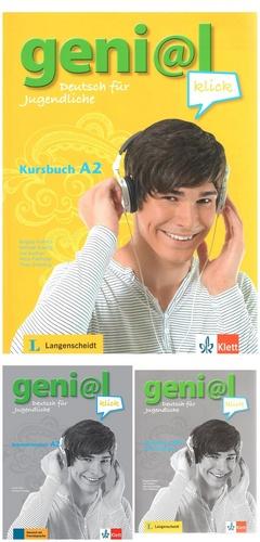 کتاب آموزش زبان آلمانی Genial Klick A2 به همراه کتاب کار و فایل های صوتی کتاب ها