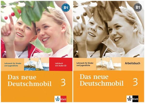 کتاب آموزش زبان آلمانی Das neue Deutschmobil 3 به همراه کتاب کار و فایل های صوتی کتاب
