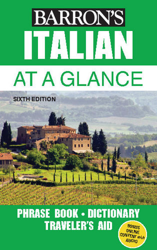 کتاب آموزش زبان ایتالیایی Barrons Italian at a Glance - ویرایش ششم (2018)