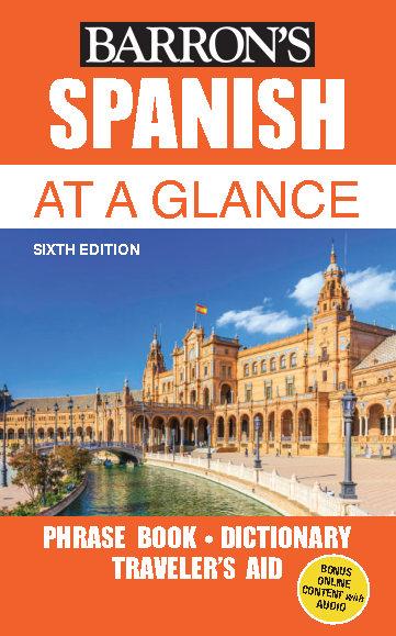 کتاب آموزش زبان اسپانیایی Barrons Spanish at a Glance - ویرایش ششم (2018)