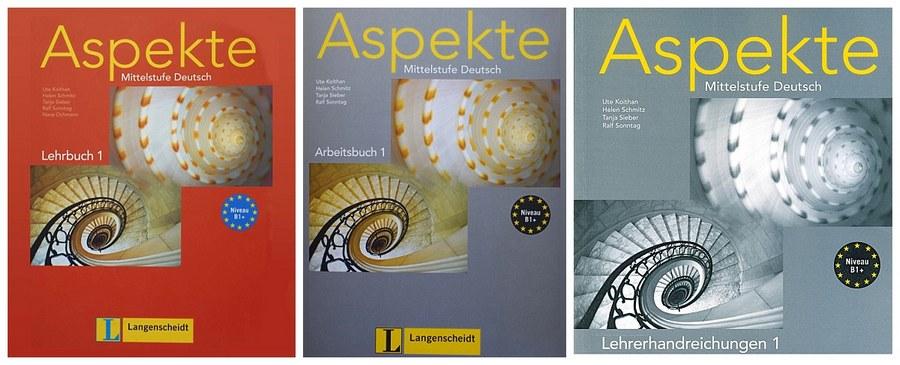 کتاب آموزش زبان آلمانی Aspekte B1 به همراه کتاب کار و کتاب معلم و فایل های صوتی کتاب