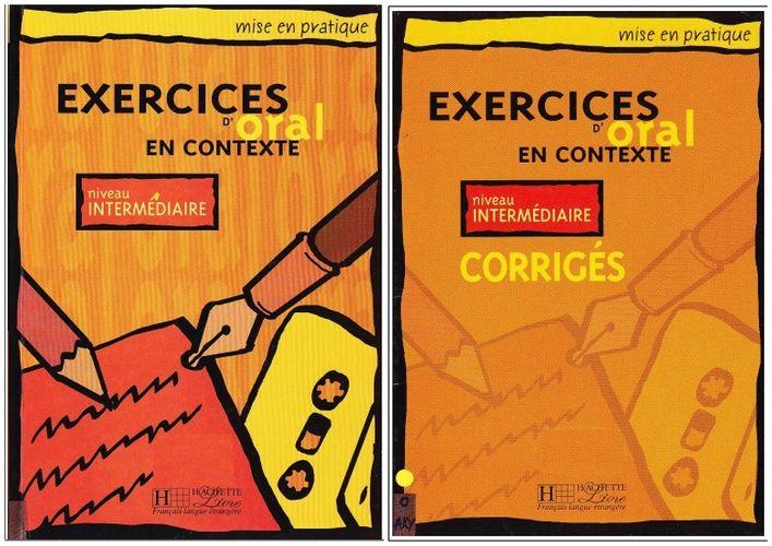 کتاب آموزش زبان فرانسوی Exercices doral en contexte : Niveau intermédiaire به همراه پاسخ نامه و فایل های صوتی کتاب