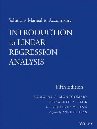 حل تمرین کتاب آنالیز رگرسیون خطی Montgomery - ویرایش پنجم