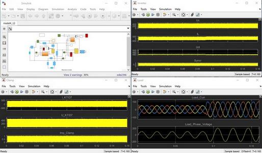 شبیه سازی اینورتر رزونانس در سیمولینک نرم افزار MATLAB