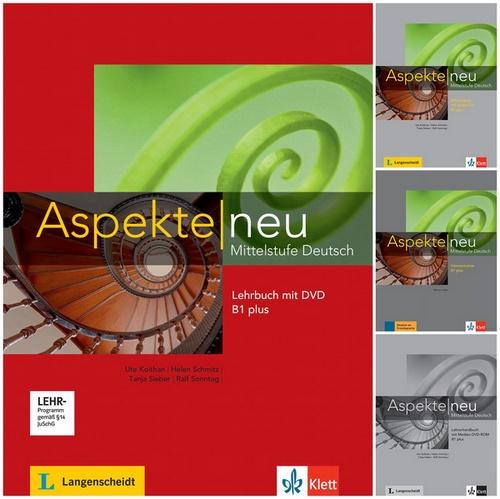 کتاب آموزش زبان آلمانی +Aspekte neu Mittelstufe Deutsch B1 به همراه کتاب کار و کتاب معلم و فایل های صوتی کتاب ها