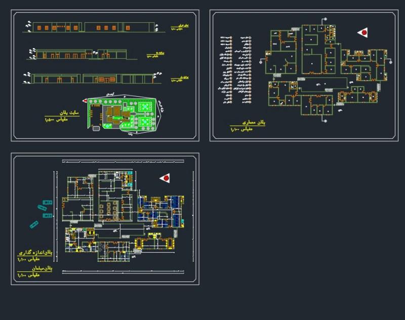 دانلود پروژه معماری اقامتگاه بین راهی نمونه یک