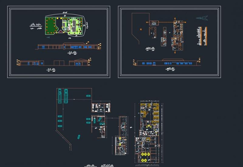 دانلود پروژه معماری اقامتگاه بین راهی نمونه دو