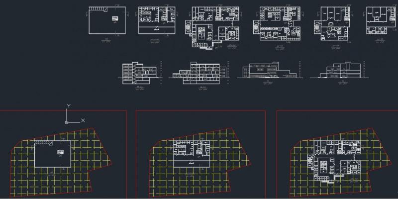 دانلود پروژه معماری با عنوان بیمارستان نمونه دو