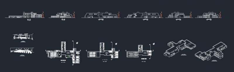 دانلود پروژه معماری طراحی دانشکده نمونه هشت