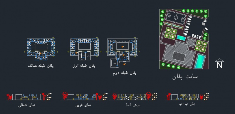 دانلود پروژه معماری با عنوان خوابگاه نمونه 1