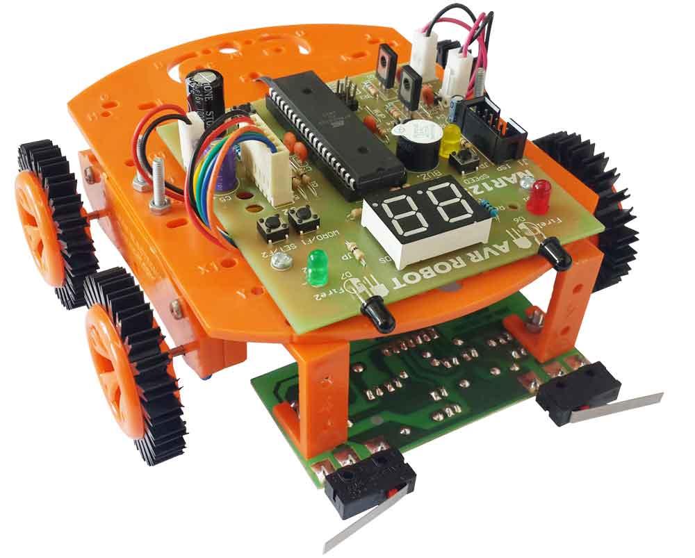 آموزش ساخت ربات مسیریاب با میکروکنترلر همراه با کد برنامه و مدار