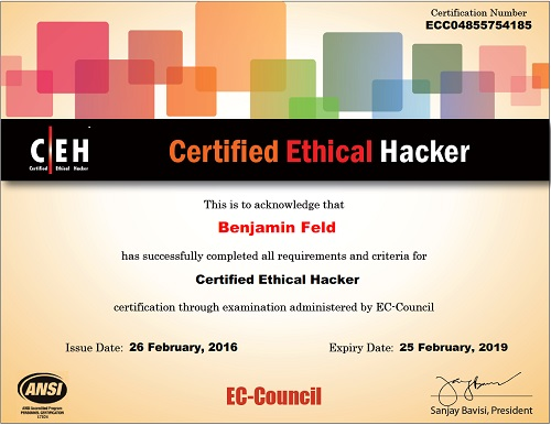 طرح لایه باز مدرک بین الملی CEH  | موکاپ دوره امنیت هکر اخلاقی CEH