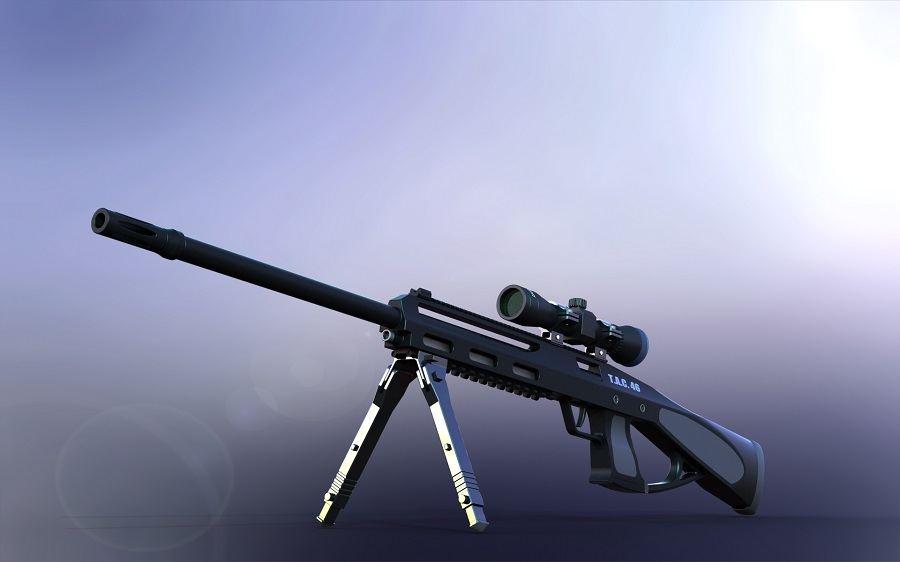 شبیه سازی تفنگ t-a-c-46 درنرم افزار سالیدورک