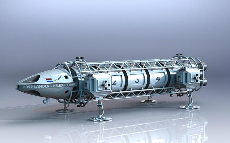 طراحی و شبیه سازی sparrow lander craft، در نرم افزار سالیدورک