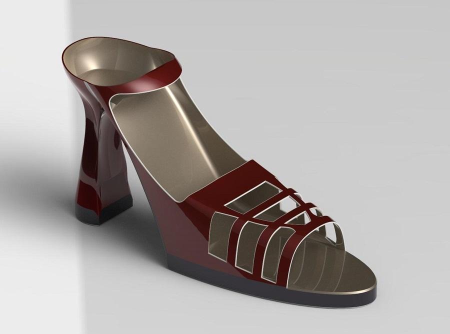 طراحی و شبیه سازی کفش پاشنه بلند زنانه در نرم افزار سالیدورک