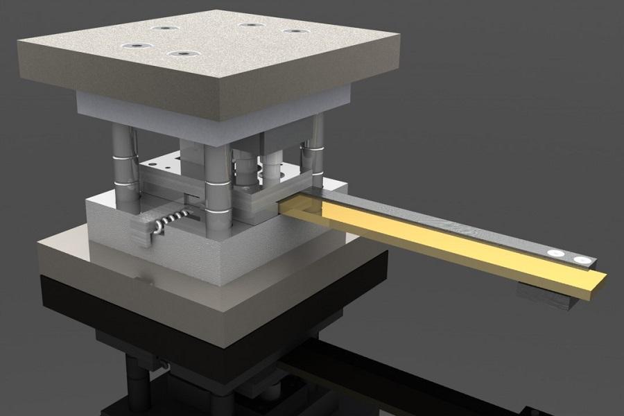 پروژه طراحی وشبیه سازی قالب برش ترکیبی در کتیا