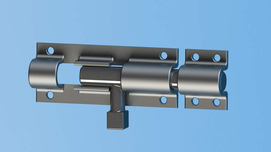 طراحی قفل گلویی (Bullet tower lock ) در نرم افزار سالید ورک