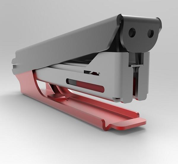 طراحی دستگاه منگنه  در نرم افزار سالیدورک