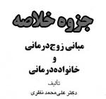 جزوه و خلاصه مبانی زوج درمانی و خانواده درمانی   بر اساس کتاب علی محمد نظری  منبع رشته روانشناسی پیام نور  34 صفحه با فرمت pdf