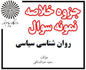 دانلود جزوه و خلاصه درس روانشناسی سیاسی - سعید عبدالملکی - روانشناسی پیام نور - pdf