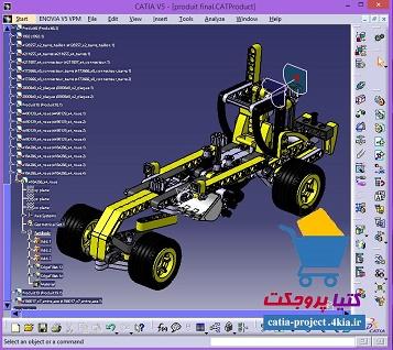 مدل آماده سه بعدی از اسباب بازی لگو در کتیا