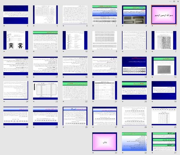 پاورپوینت (اسلاید) بررسی انواع ال سی دی LCD (متني – گرافيكي)