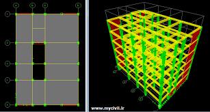 دانلود پروژه سازه های بتنی -طراحی یک ساختمان بتنی به صورت pdf در 75 صفحه به طور کامل و جامع به دو طریق دستی و نرم افزارهای SAFE و ETABS