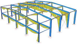 دانلود پاورپوینت  سازه های فلزی پیش ساخته  -قابهای خمشی معمولی و قاب های شیبدار(سوله)-سازه های مشبک (خرپاها)  و سازه های کششی(کابلی) در57 اسلاید