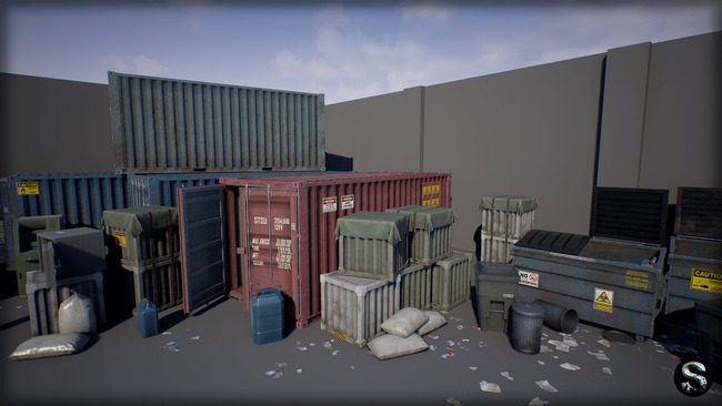 Unreal Engine Marketplace – Industry Props Pack 4