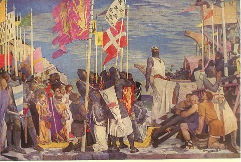 پاورپوینت کامل و جامع با عنوان تاریخ اروپا در قرون وسطی در 55 اسلاید