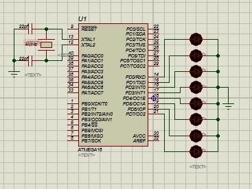 پروژه ساخت فلاشر با میکروکنترلر AVR و با ATMEGA 16 به زبان Code Vision و با پروتئوس