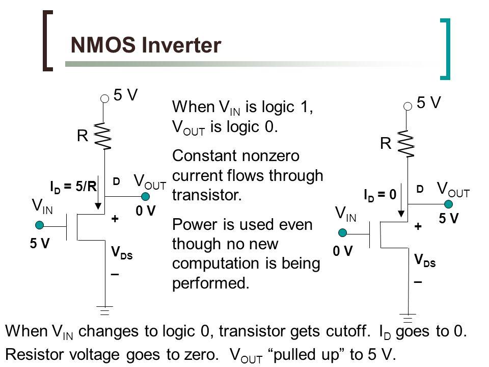 پاورپوینت کامل و جامع با عنوان منطق NMOS در الکترونیک دیجیتال در 30 اسلاید