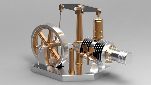 پاورپوینت کامل با عنوان موتور استرلینگ و کاربردهای آن در 19 اسلاید