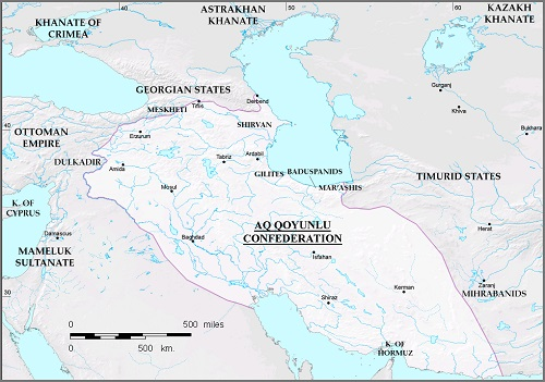 پاورپوینت کامل و جامع با عنوان تاریخ تمدن و حکومت آق قویونلوها و قراقویونلوها در 45 اسلاید