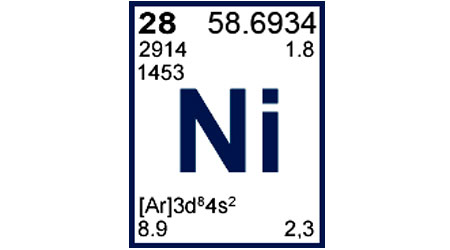 پاورپوینت کامل و جامع با عنوان بررسی کامل عنصر نیکل در 34 اسلاید