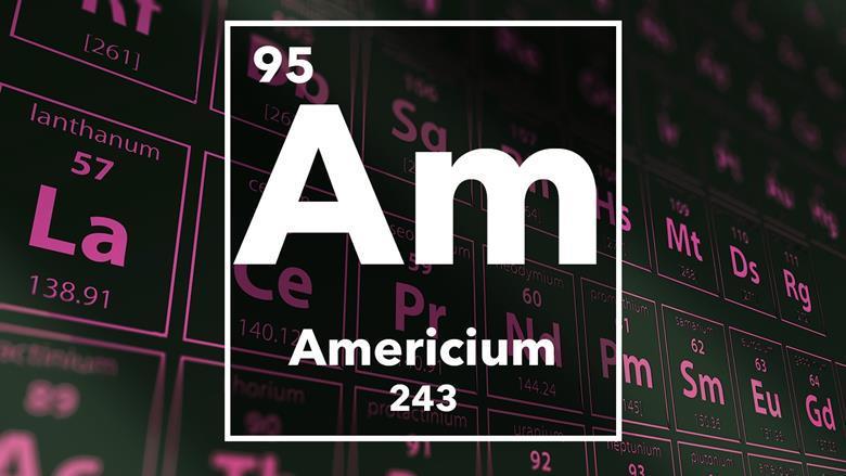 پاورپوینت کامل و جامع با عنوان بررسی عنصر آمریکیوم یا آمریسیم در 17 اسلاید