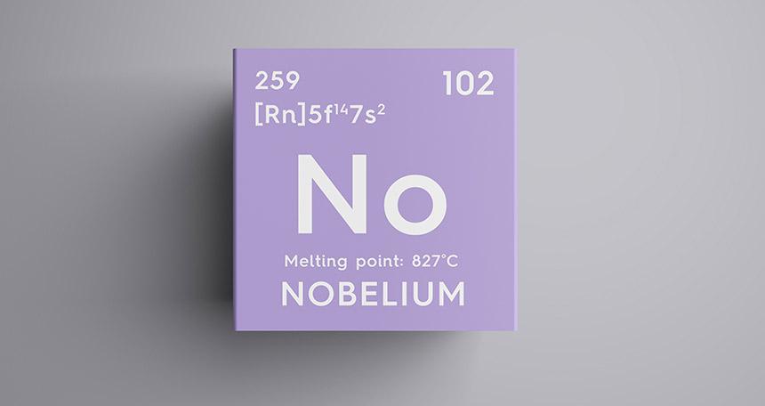 پاورپوینت کامل و جامع با عنوان بررسی عنصر نوبلیم در 14 اسلاید