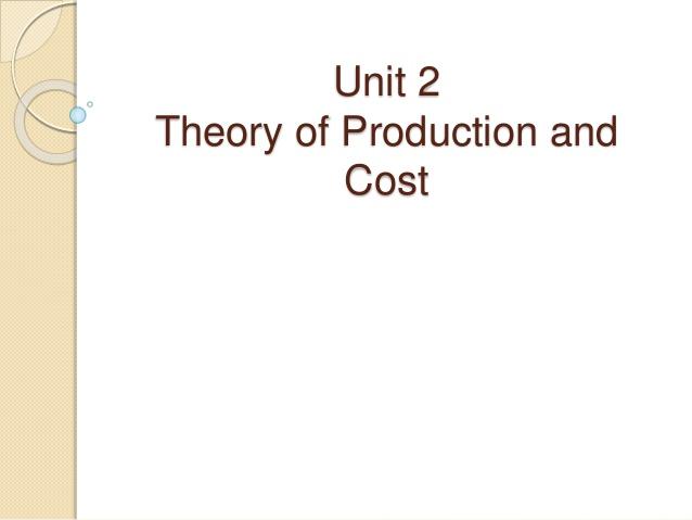 پاورپوینت کامل و جامع با عنوان تولید و تئوری هزینه تولید در 50 اسلاید