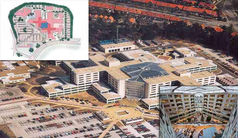 دانلود پاورپوینت بررسی نمونه موردی بیمارستان با موضوع تحلیل معماری بیمارستان رین ستیت و بیمارستان قلب ایندیانا