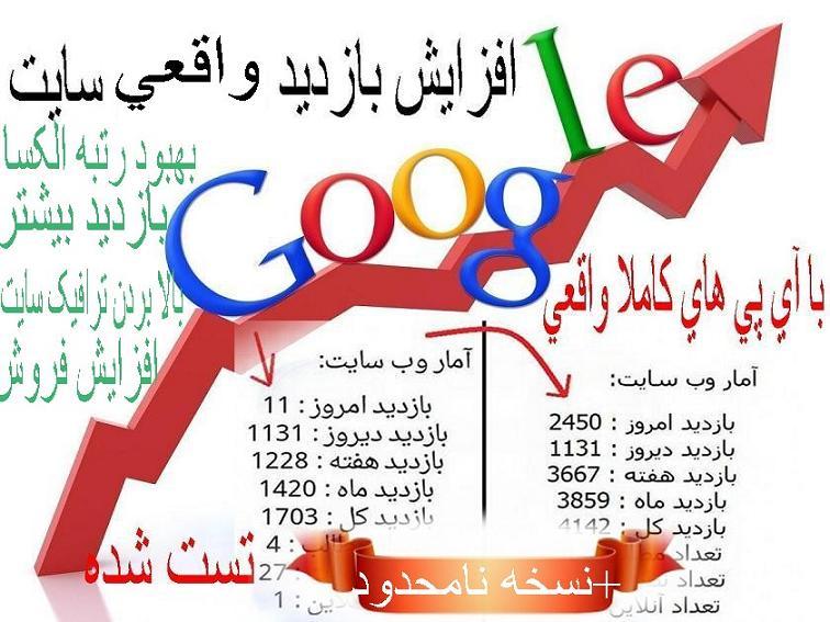نرم افزار ويژه افزايش بازديد واقعي سايت «نسخه نامحدود»