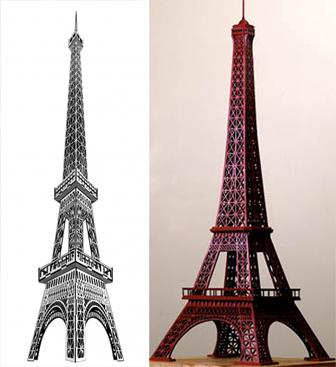 دانلود طرح برش لیزری برج ایفل 60 سانتی