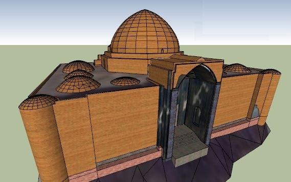 مدل سه بعدی مسجد کبود تبریز