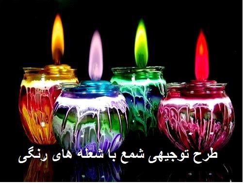طرح  توجیهی تولید شمع با شعله های رنگی