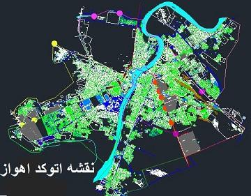 نقشه اتوکد شهر اهواز با جزئیات کامل با فرمت dwg