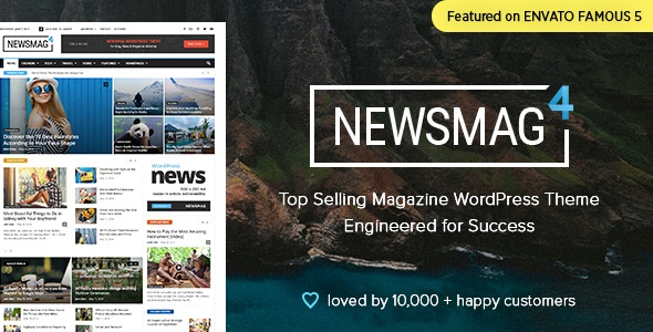 دانلود تم حرفه ای و خبری Newsmag  v4.0