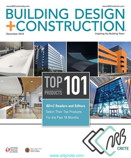 مجله آمریکایی Building Design + Construction ماه دسامبر 2016