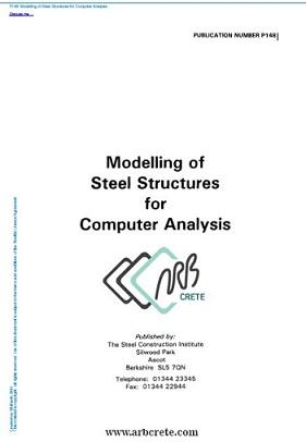 دانلود کتاب لاتین مدلسازی سازه های فولادی برای تجزیه و تحلیل کامپیوتری شماره  P148