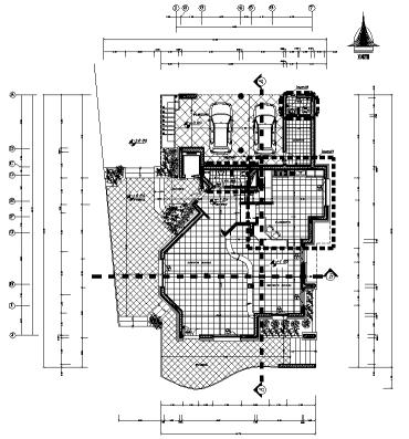 نقشه های معماری ترسیم فنی ویلای 19*14
